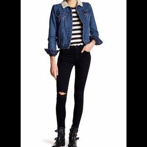 Hudson Nico Super Skinny Jeans Dark Black 27